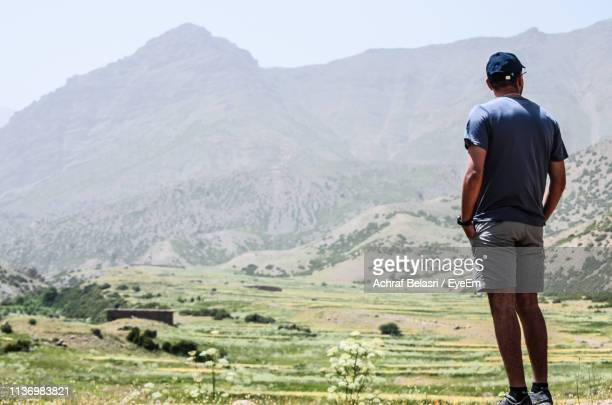Rear View Of Man Looking At Scenery
