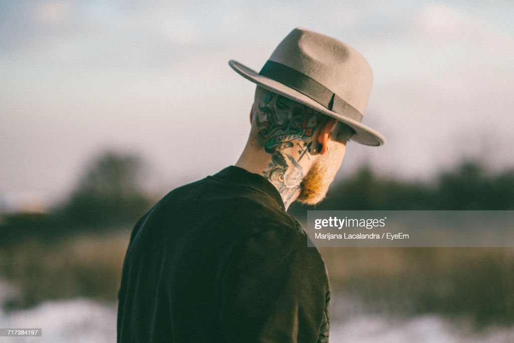 Rear View Of Man : Stock Photo