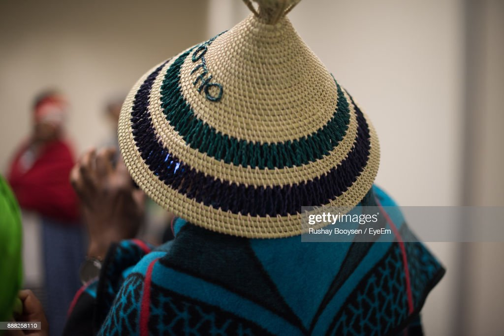Rear View Of Man Wearing Hat : Stock Photo