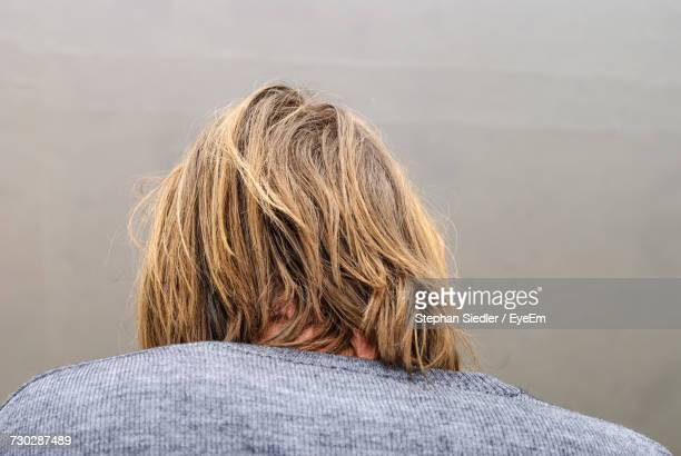 Rear View Of Man With Blond Hair
