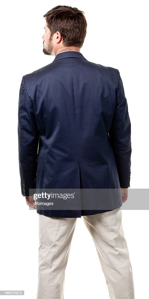 Rear View Of Mid Adult Male : Stock Photo