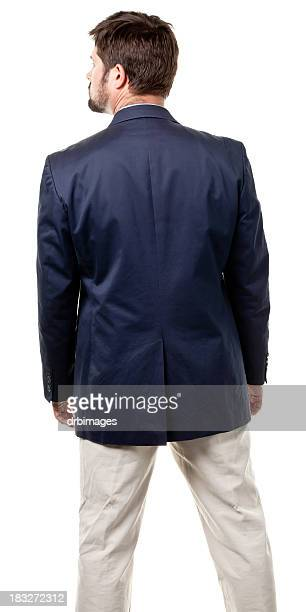rear view of mid adult male - three quarter length stock pictures, royalty-free photos & images