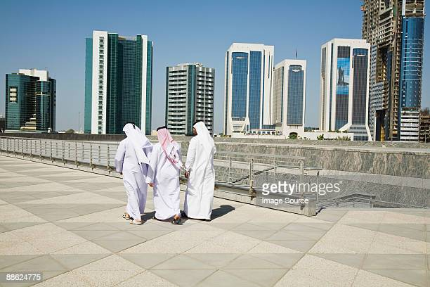 Rear view of middle eastern businessmen