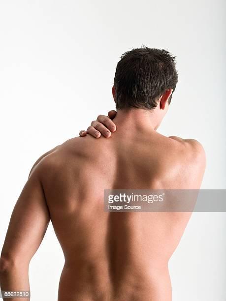 rear view of nude man - hombres desnudos fotografías e imágenes de stock