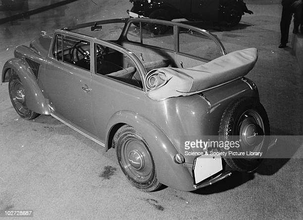 Rear view of Opel 'Olympia' car at Berlin Exhibition Photograph taken during Berlin Automobile Exhibition, 1935.