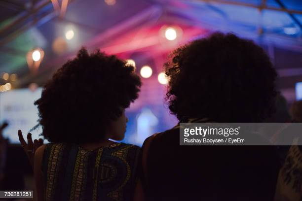 rear view of people at music concert - afro stock pictures, royalty-free photos & images