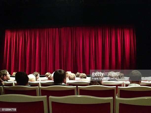 Rear view of people sitting in theatre