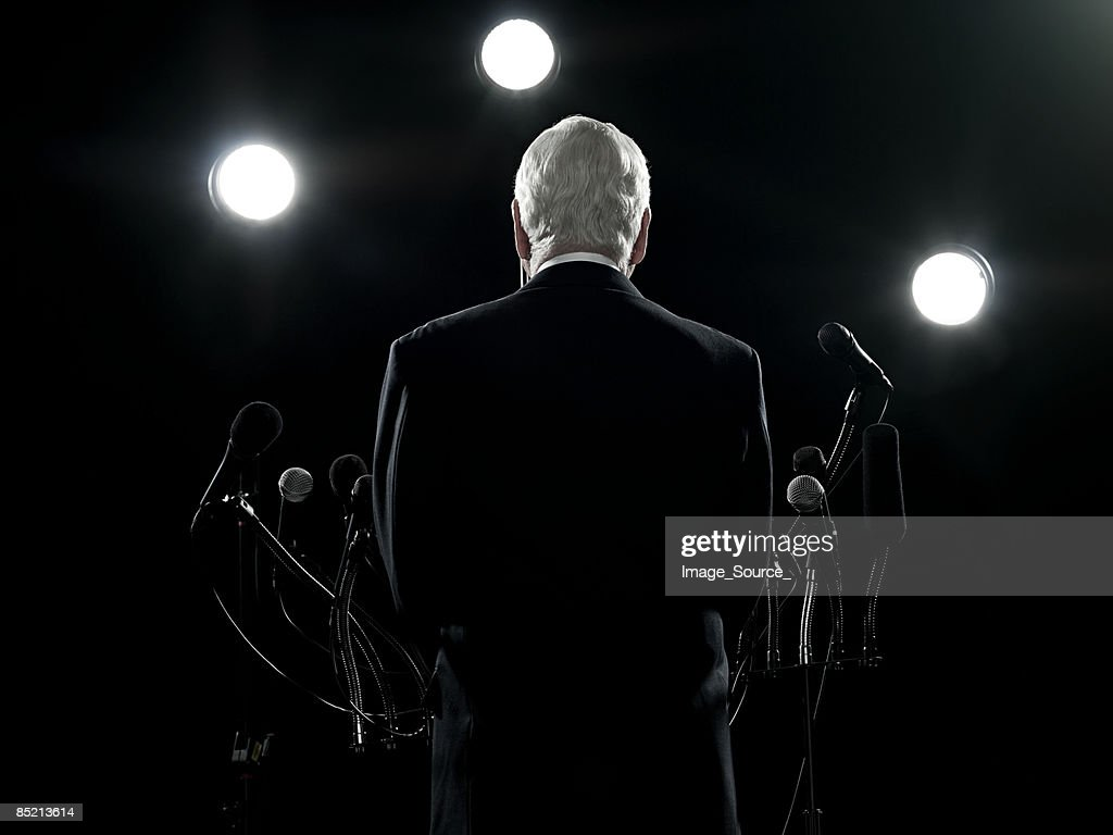 Rear view of politician : Stock Photo