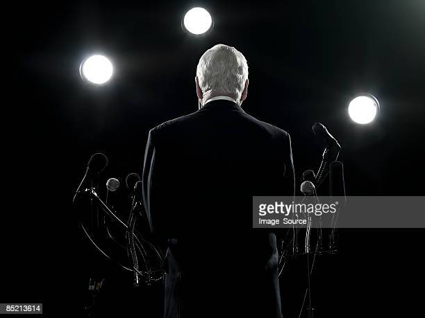 rear view of politician - democracy stock pictures, royalty-free photos & images