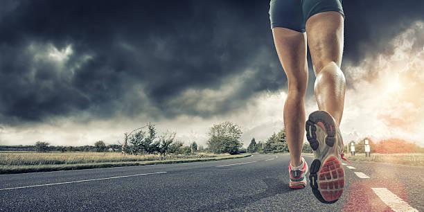 Rear View Of Runners Legs Wall Art