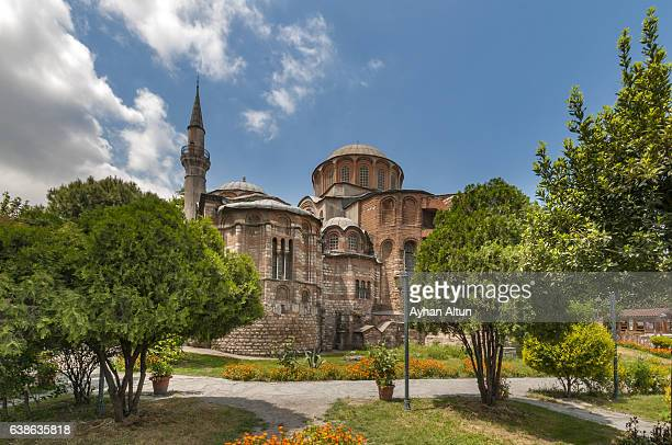 rear view of the church of the holy saviour in chora ,istanbul,turkey - kariye museum stock pictures, royalty-free photos & images
