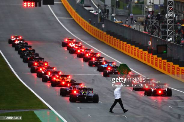 Rear view of the grid ahead of the start of the feature race for the Formula 3 Championship at Red Bull Ring on July 11, 2020 in Spielberg, Austria.
