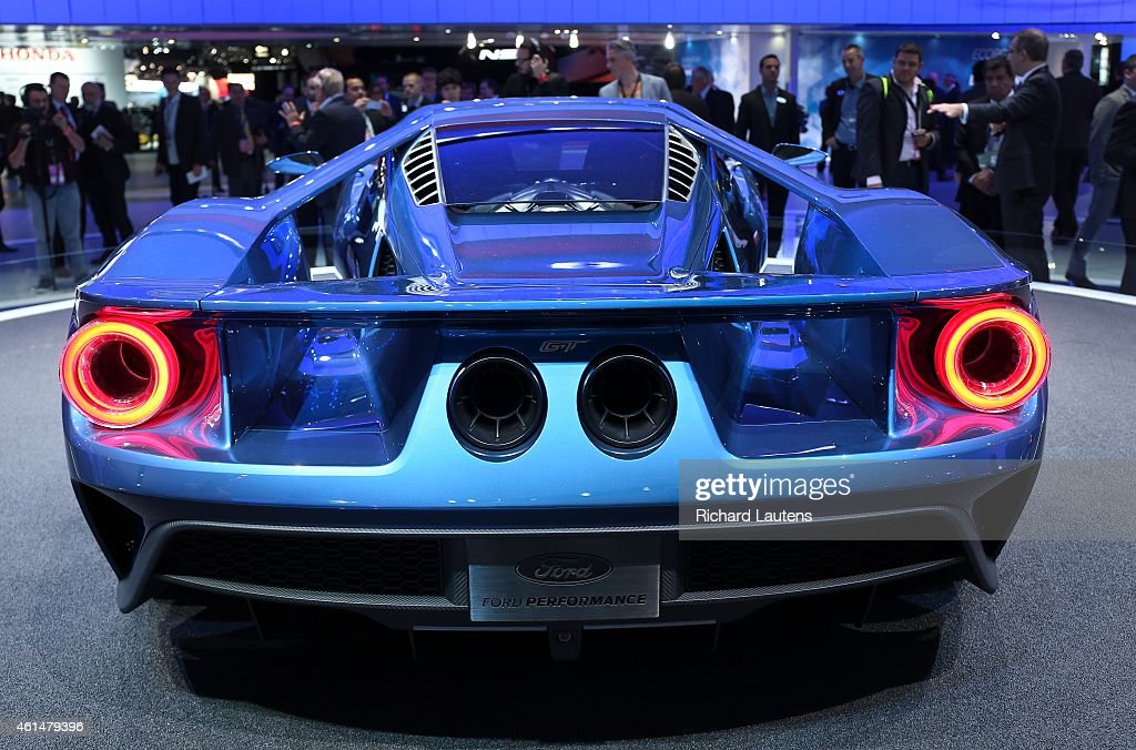A Rear View Of The New Ford Gt The North American International Auto Show Opened