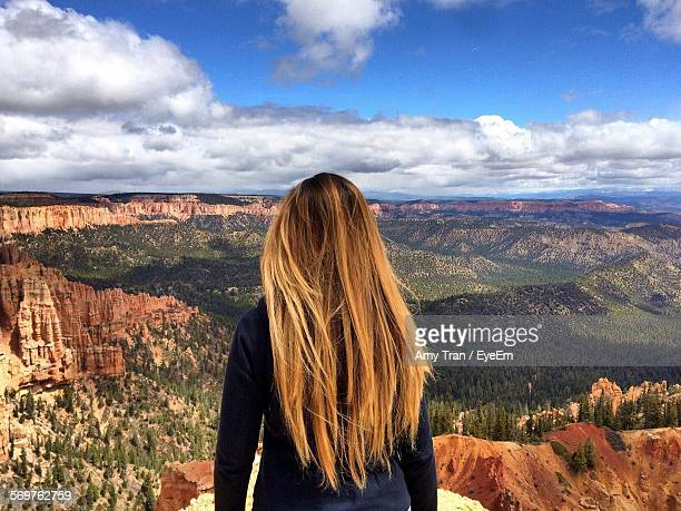 Rear View Of Woman Against Sky At Bryce Canyon National Park
