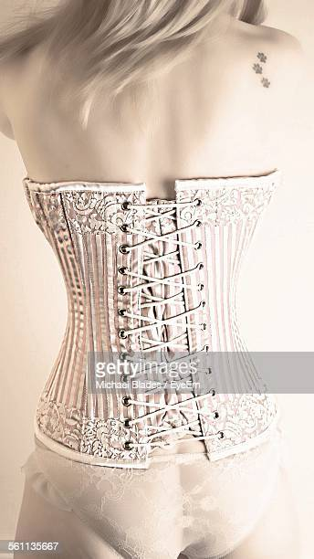 Rear View Of Woman Wearing Corset