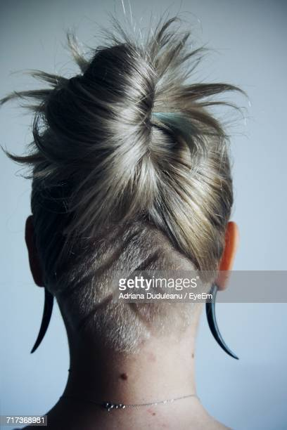 Rear View Of Woman With Cool Hairstyle