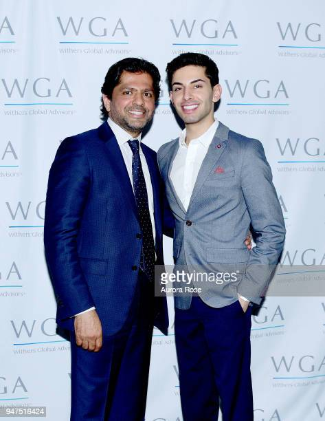 Reaz Jafri and Guest attend Launch Of New Entity Withers Global Advisors at 432 Park Avenue on April 3 2018 in New York City Reaz Jafri