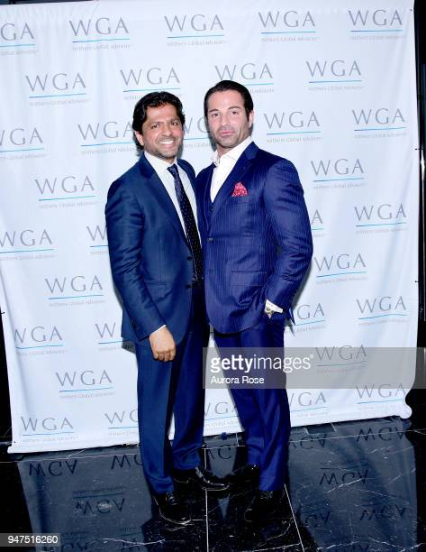 Reaz Jafri and Joseph Casucci attend Launch Of New Entity Withers Global Advisors at 432 Park Avenue on April 3 2018 in New York City Reaz...