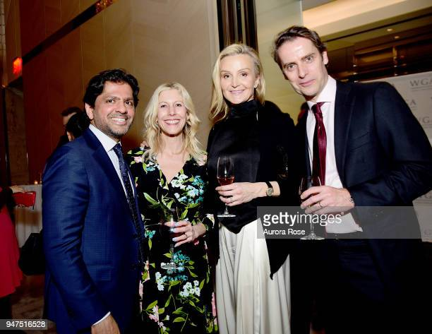 Reaz Jafri Cory Jafri Michelle Hensler and Philip Hensler attend Launch Of New Entity Withers Global Advisors at 432 Park Avenue on April 3 2018 in...