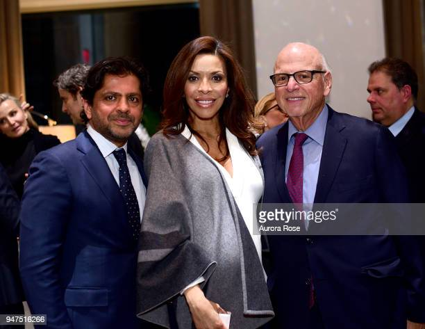 Reaz Jafri Lisa Simonsen and Howard M Lorber attend Launch Of New Entity Withers Global Advisors at 432 Park Avenue on April 3 2018 in New York City...