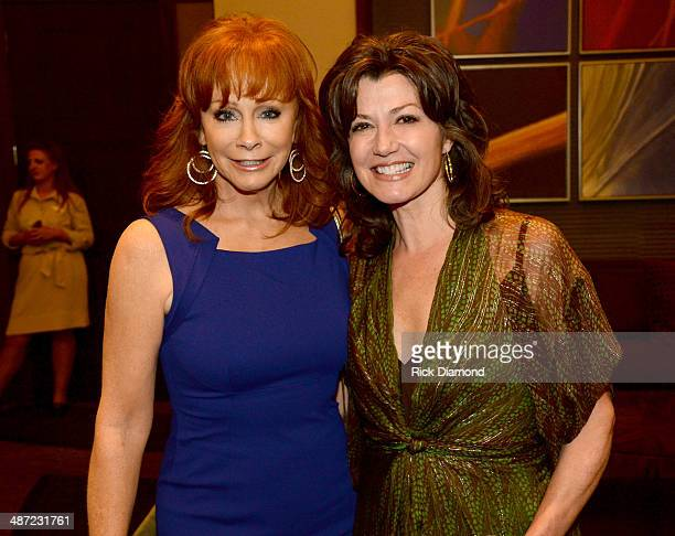 Reba McEntire and Amy Grant attend the 15th Annual Nashville Best Cellars Dinner hosted by the TJ Martell Foundation at the Omni Hotel Downtown on...