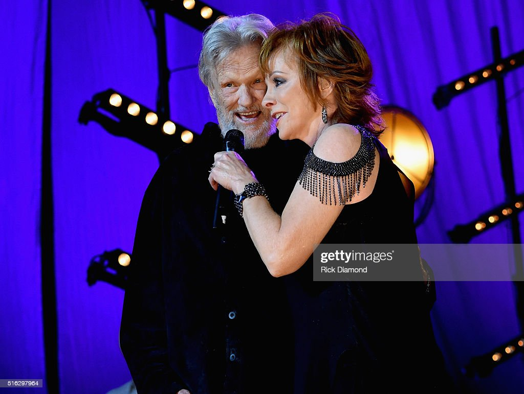 Reba McEntire and Kris Kristofferson perform at The Life & Songs of Kris Kristofferson produced by Blackbird Presents at Bridgestone Arena on March 16, 2016 in Nashville, Tennessee.
