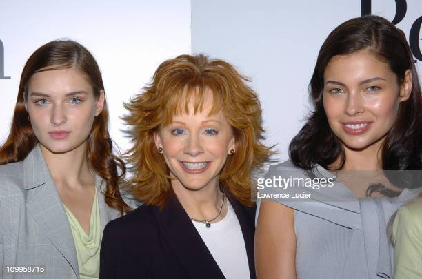 Reba McEntire and models during Reba McEntire Hosts A Press Preview of Her New Spring 2005 Reba Clothing Collection at Bruno's in New York City New...