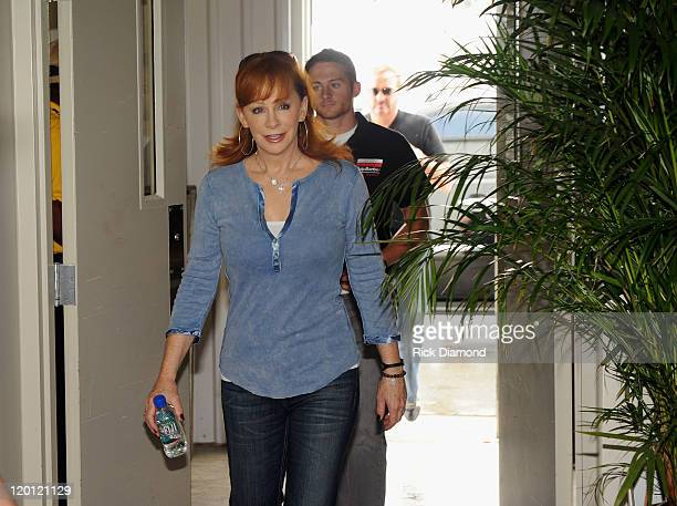 Reba McEntire arrives for the Brickyard 400 Qualifying presented by BigMachineRecordscom on July 30 2011 in Indianapolis Indiana