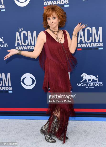 Reba McEntire attends the 54th Academy of Country Music Awards at MGM Grand Garden Arena on April 07 2019 in Las Vegas Nevada