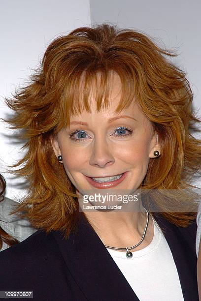 Reba McEntire during Reba McEntire Hosts A Press Preview of Her New Spring 2005 Reba Clothing Collection at Bruno's in New York City New York United...