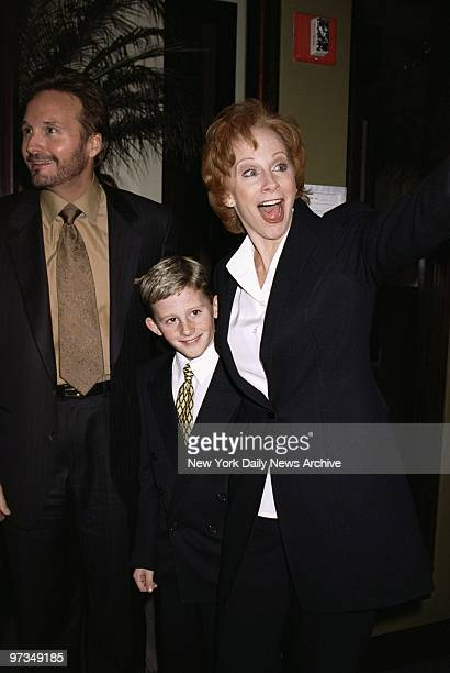 Reba McEntire is accompanied by her husband Narvel Blackstock and son Shelby at party following her opening night performance in the Broadway musical...