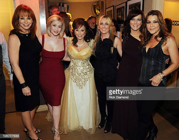 Reba McEntire Kellie Pickler Honoree Loretta Lynn Lee Ann Womack Martina McBride and Gretchen Wilson backstage during the GRAMMY Salute to Country...