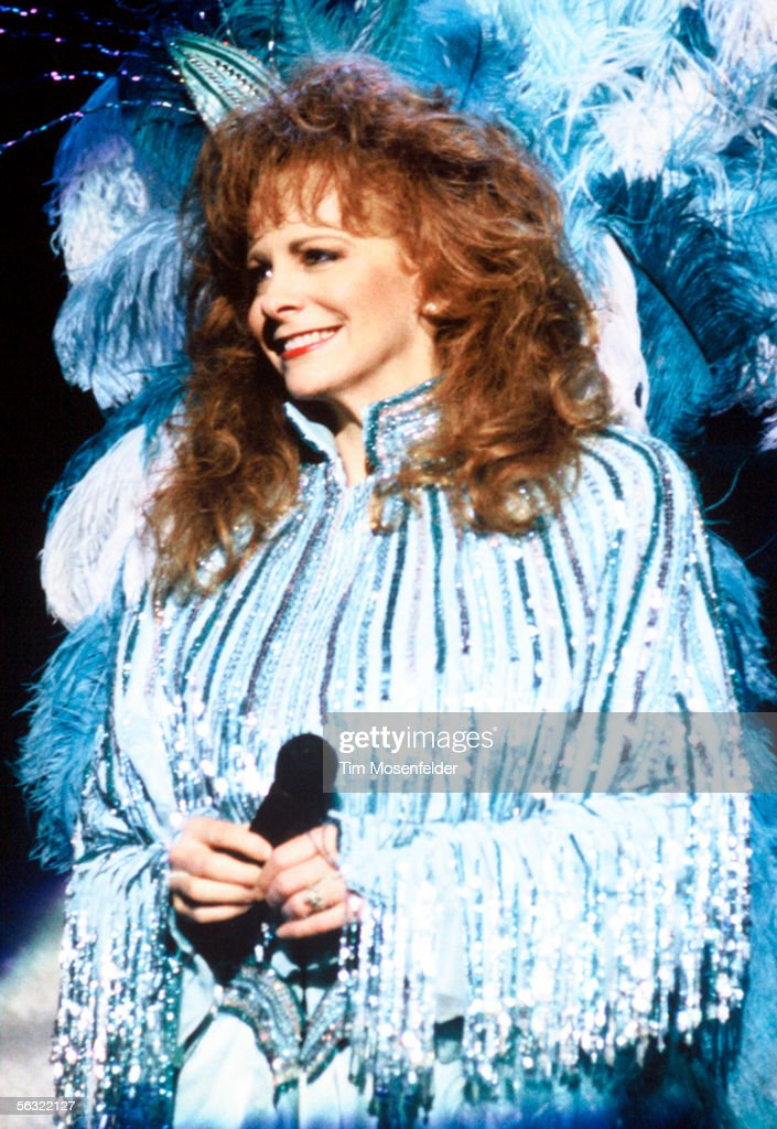 Reba McEntire performs at Shoreline Amphitheatre on April 13, 1993 in Mountain View California.