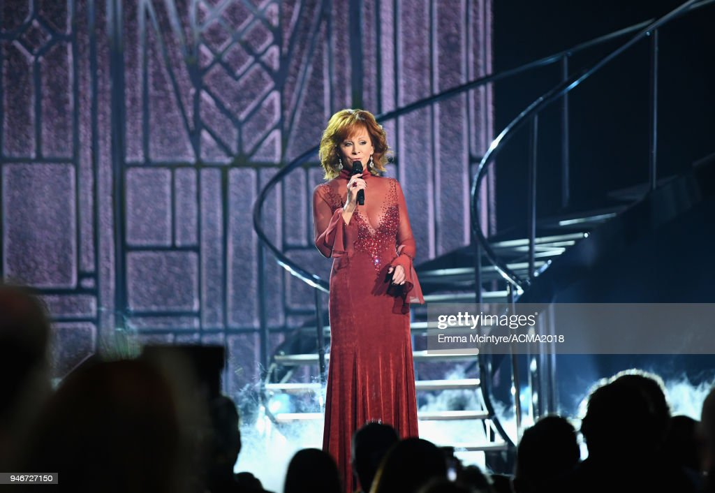 Reba McEntire performs at the 53rd Academy of Country Music Awards at MGM Grand Garden Arena on April 15, 2018 in Las Vegas, Nevada.
