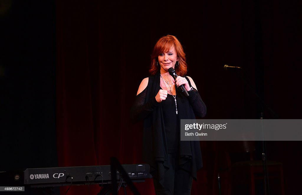 Reba McEntire performs at the Musicians on Call event at City Winery Nashville on October 21, 2015 in Nashville, Tennessee.