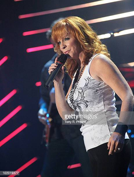 Reba McEntire performs during the 2010 CMA Music Festival on June 11 2010 in Nashville Tennessee