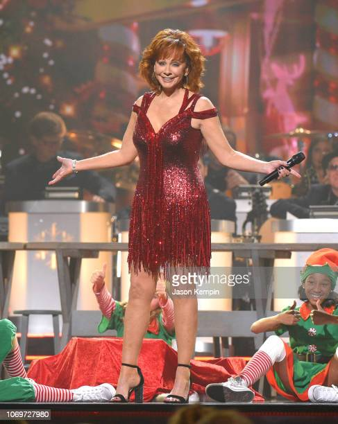 Reba McEntire performs during the 2018 CMA Country Christmas at Curb Event Center on September 27 2018 in Nashville Tennessee