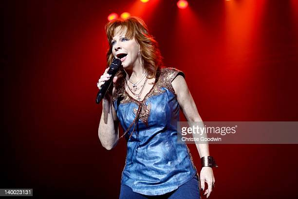 Reba McEntire performs on stage during the International Festival Of Country Music at Wembley Arena on February 26 2012 in London United Kingdom
