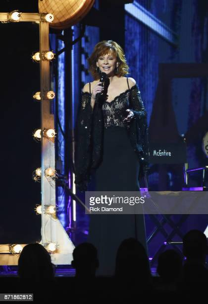 Reba McEntire performs onstage at the 51st annual CMA Awards at the Bridgestone Arena on November 8 2017 in Nashville Tennessee