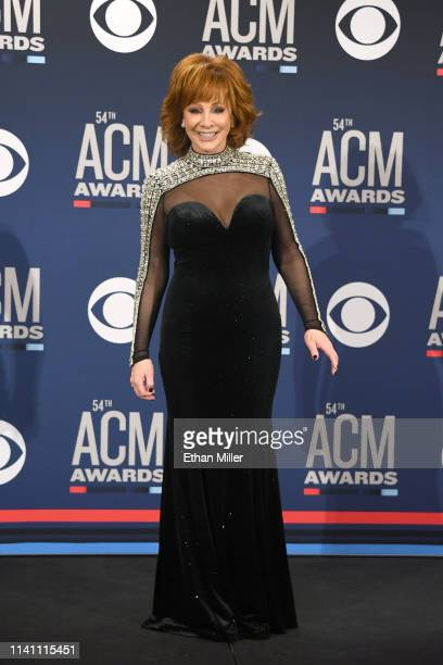 Reba McEntire poses in the press room during the 54th Academy Of Country Music Awards at MGM Grand Garden Arena on April 07, 2019 in Las Vegas,...