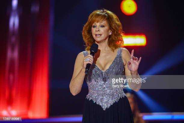 Reba McEntire speaks onstage during the The 54th Annual CMA Awards at Nashville's Music City Center on Wednesday, November 11, 2020 in Nashville,...