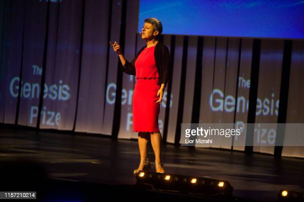 Rebai Lora performs on stage during the Genesis Prize ceremony at The Jerusalem Theater on June 20 2019 in Jerusalem Israel