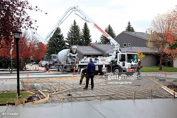 Rebar And Cement Mixer At Residential Construction Site