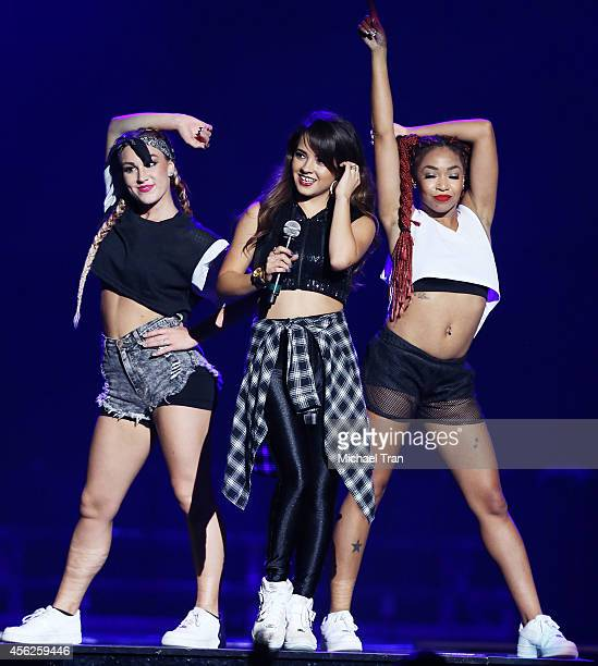 Rebbeca Marie Gomez aka Becky G performs onstage during the DEMI World Tour held at Staples Center on September 27 2014 in Los Angeles California
