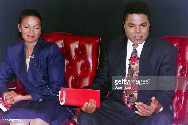 """Rebbie Jackson and Tito Jackson during a promotional appearance to announce the upcoming Jackson family reunion special """"Jackson Family Honors"""" on..."""