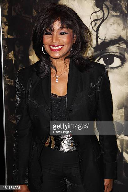 Rebbie Jackson attends the UK premiere of 'Michael Jackson: The Life Of An Icon' at The Empire Leicester Square on November 2, 2011 in London, United...