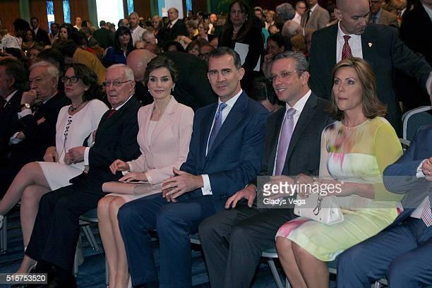 Rebeca Grynspan Vicor Garcia de la Concha King Felipe VI of Spain and Queen Letizia of Spain Governor of Puerto Rico Alejandro Garcia Padilla and the...