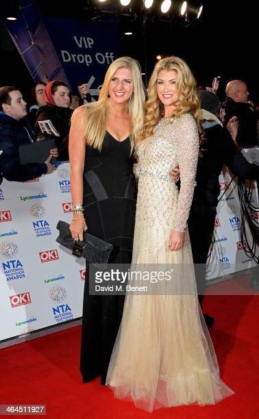 Rebecca Adlington and Amy Willerton attend the National Television Awards at the 02 Arena on January 22 2014 in London England