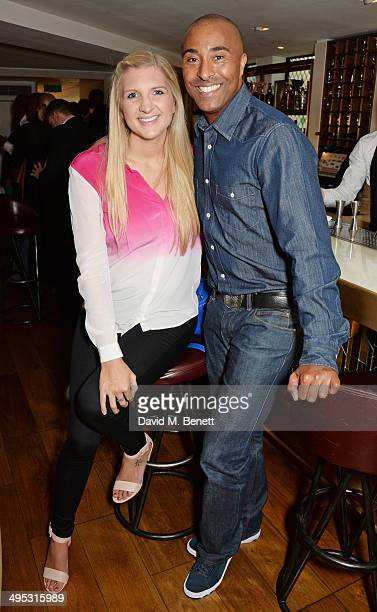 Rebecca Adlington and Colin Jackson attend an Olympian Sports Quiz night hosted by Colin Jackson in aid of his new charity venture 'Go Dad Run' for...