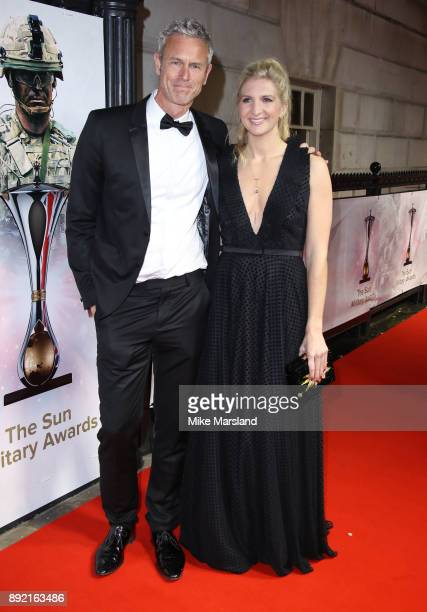 Rebecca Adlington and Mark Foster attend The Sun Military Awards at Banqueting House on December 13 2017 in London England